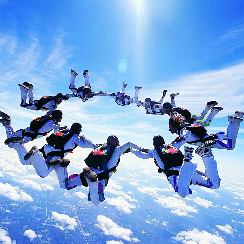 【 горчица полет 】4000 метровый пустой двойной перейти зонт китай в ханчжоу тысяча остров озеро гуандун солнце река