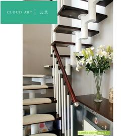 云艺缩颈龙骨/整梯楼梯/意大利竖式杆/阁楼楼梯/家用楼梯