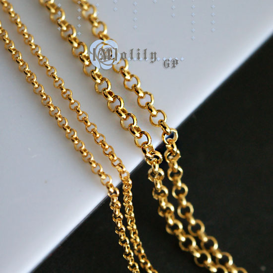 M DIY handmade material imported from USA copper self made headwear circle plated with 18K gold necklace loose chain accessories