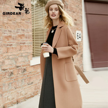 Brother autumn and winter new wool double-faced coat female Europe and the United States long paragraph large pocket bathrobe coat A400016