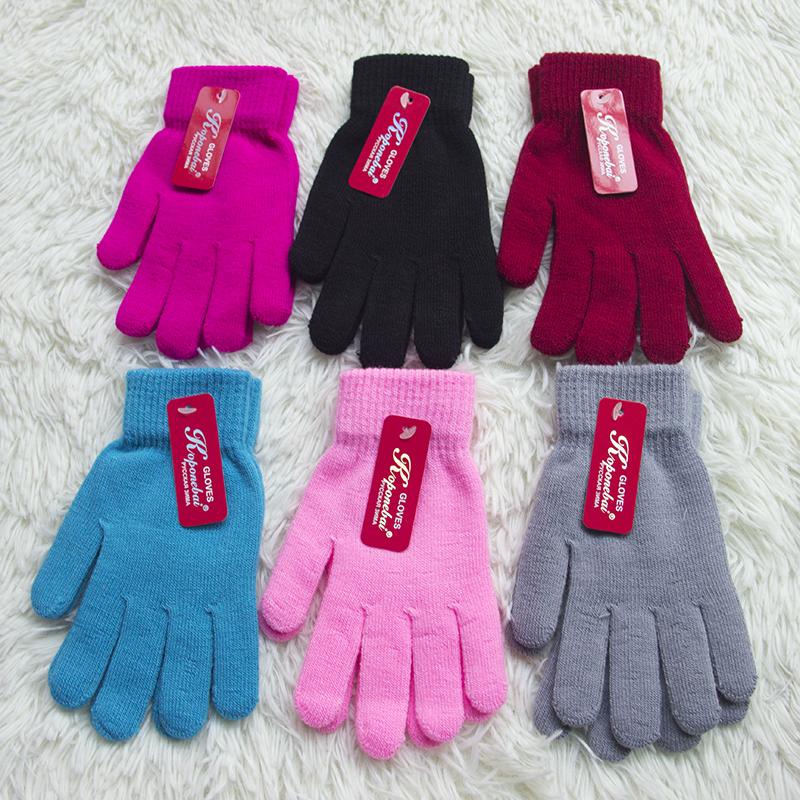 2020爆款春秋冬季单色加厚拉毛韩版防尘纯色男女通用新款魔术手套