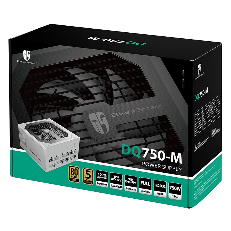 九州风神 金牌750W电源(80PLUS金牌/全模组/全日系电容)DQ750-M
