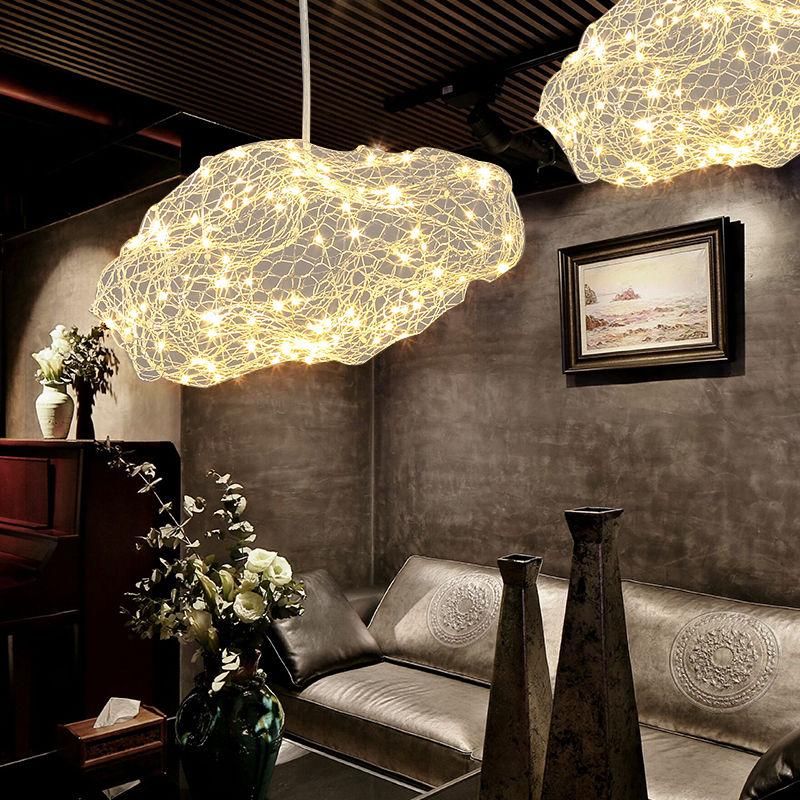 设计师的灯北欧创意酒店大堂餐厅吧台个性简约LED儿童房云朵吊灯