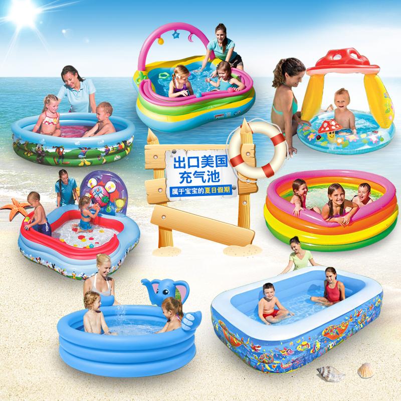 决明子儿童婴儿游泳池家庭充气沙池12-02新券
