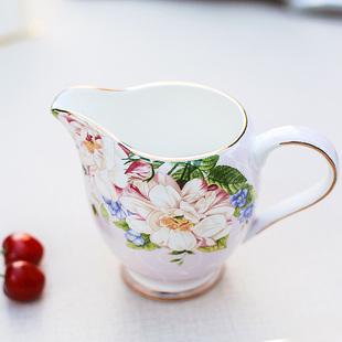 欧式创意牛奶杯 骨瓷牛奶壶 奶缸 咖啡储奶罐 咖啡配套器具价格