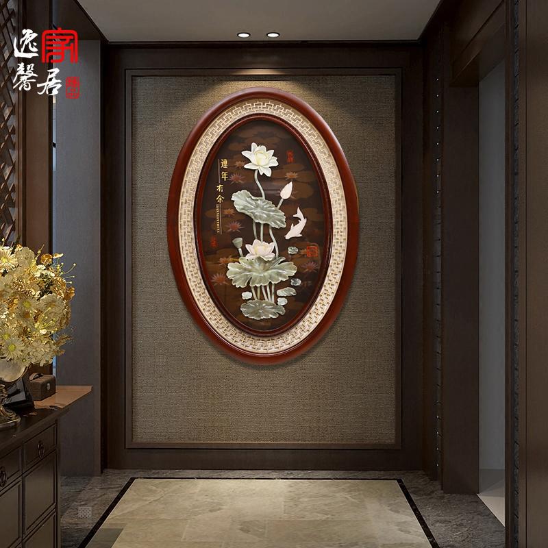 客厅走廊电视背景墙挂画浮雕壁挂东阳木雕挂件新中式玉雕装饰画