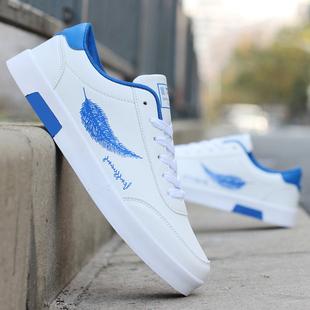 韩版 内增高男鞋 白鞋 鞋 子男百搭春夏休闲鞋 白色潮鞋 青少年运动板鞋