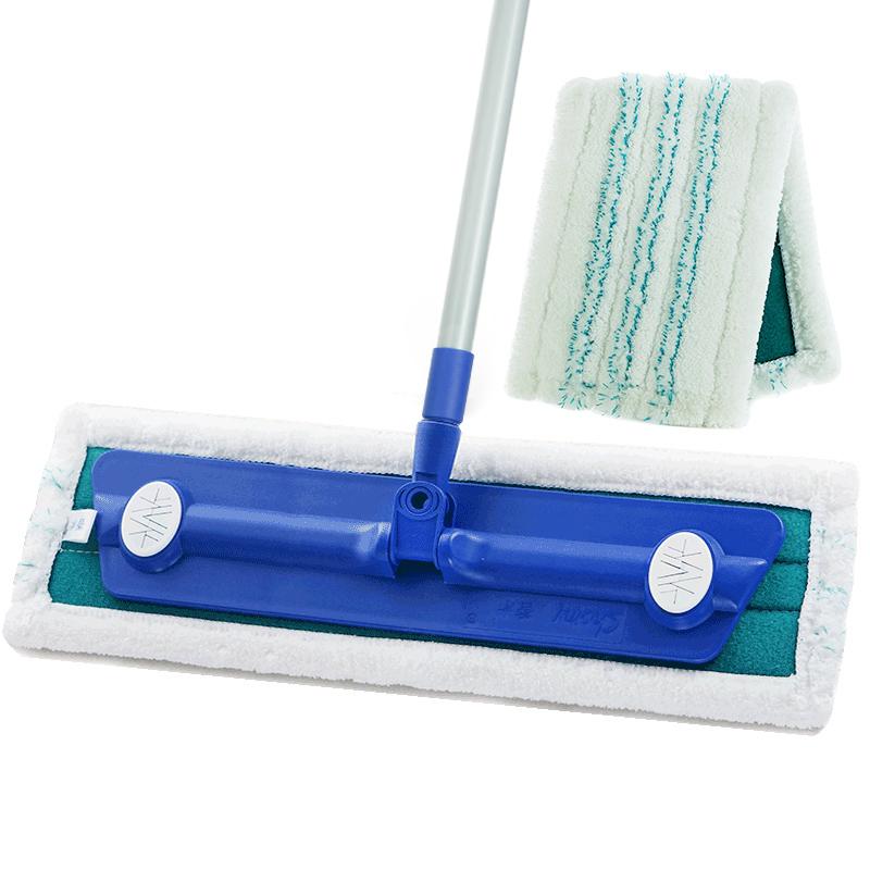 香米家政魔净干湿两用大码平板拖把木地板拖把通用妙洁粘布替换布
