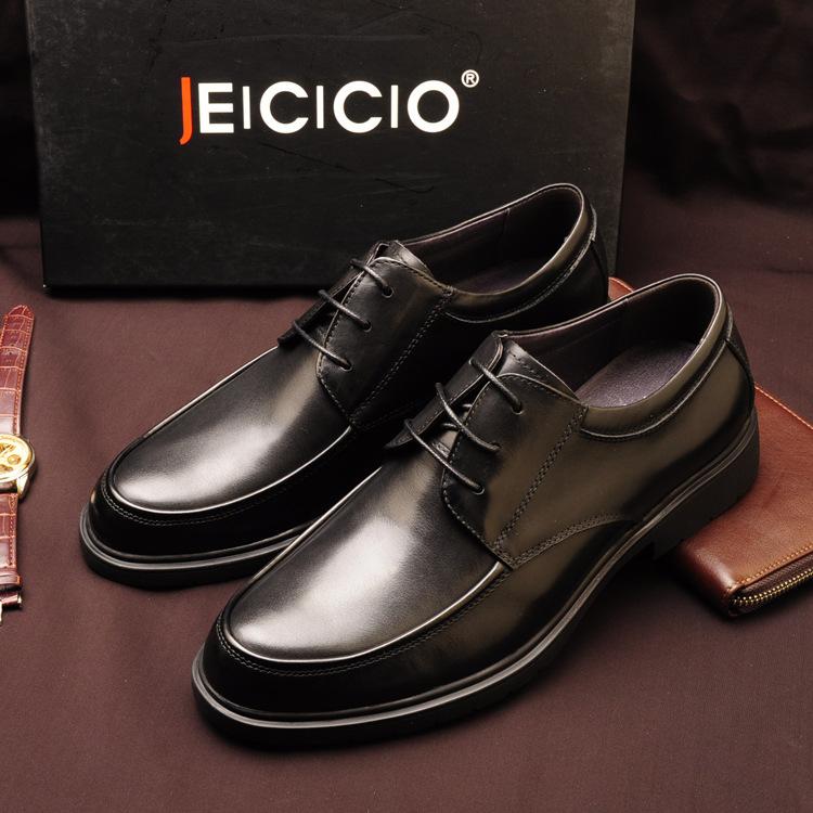 经典男士皮鞋真皮头层牛皮商务正装男鞋英伦手工高档皮鞋男式皮鞋
