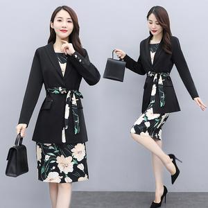 YF63848# 小西装连衣裙子两件套装洋气减龄显瘦遮肉初秋女装 服装批发女装直播货源