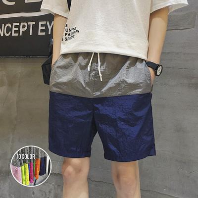 宽松速干沙滩裤男平角温泉泳裤海边度假短裤大裤衩潮DS67TP25