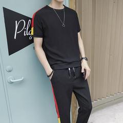 夏季短袖套装男士圆领t恤韩版潮流一套衣服休闲男装帅气DS140TP65