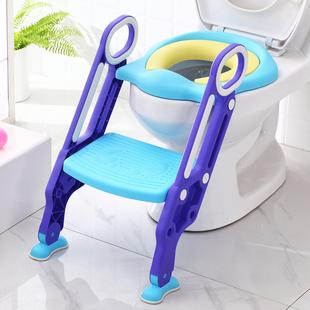 儿童坐便器马桶梯女宝宝小孩男坐垫圈女孩便盆盖楼梯式 厕所马桶架