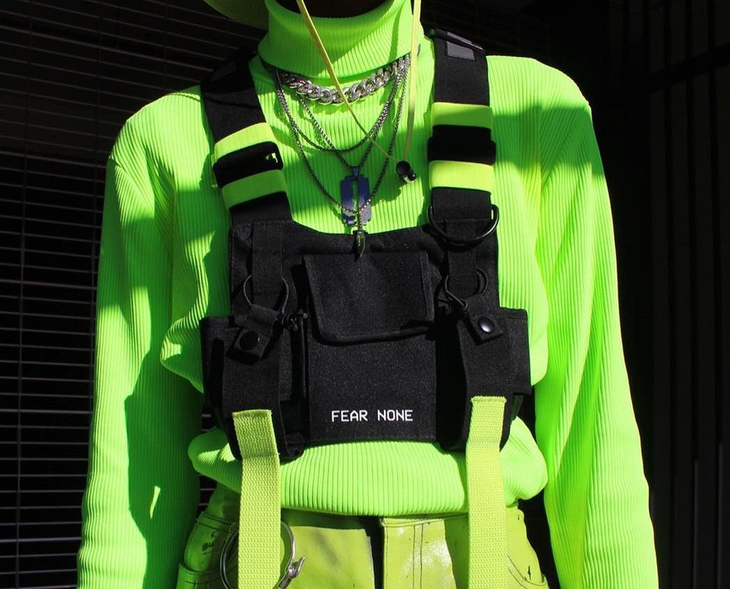 刘聪同款战术背心嘻哈机能胸包背包