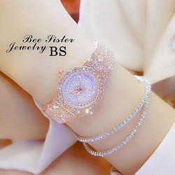 【下单就送手链】正品新款满天星女生手表满钻时尚小表盘防水女表
