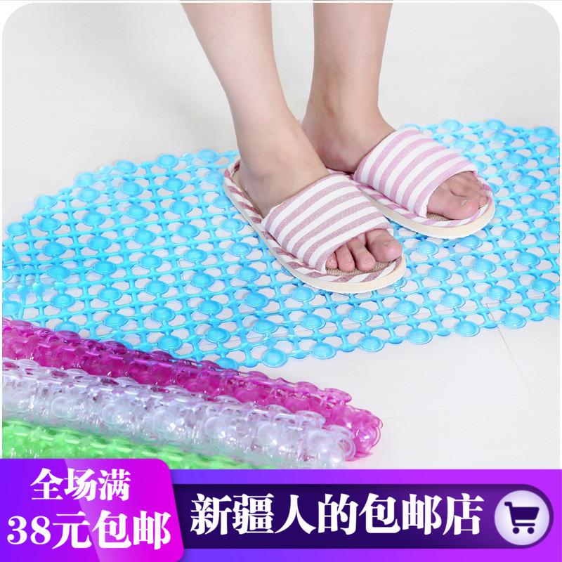 家用酒店塑料浴室防滑地垫卫生间脚垫淋浴洗澡镂空带吸盘地垫按摩