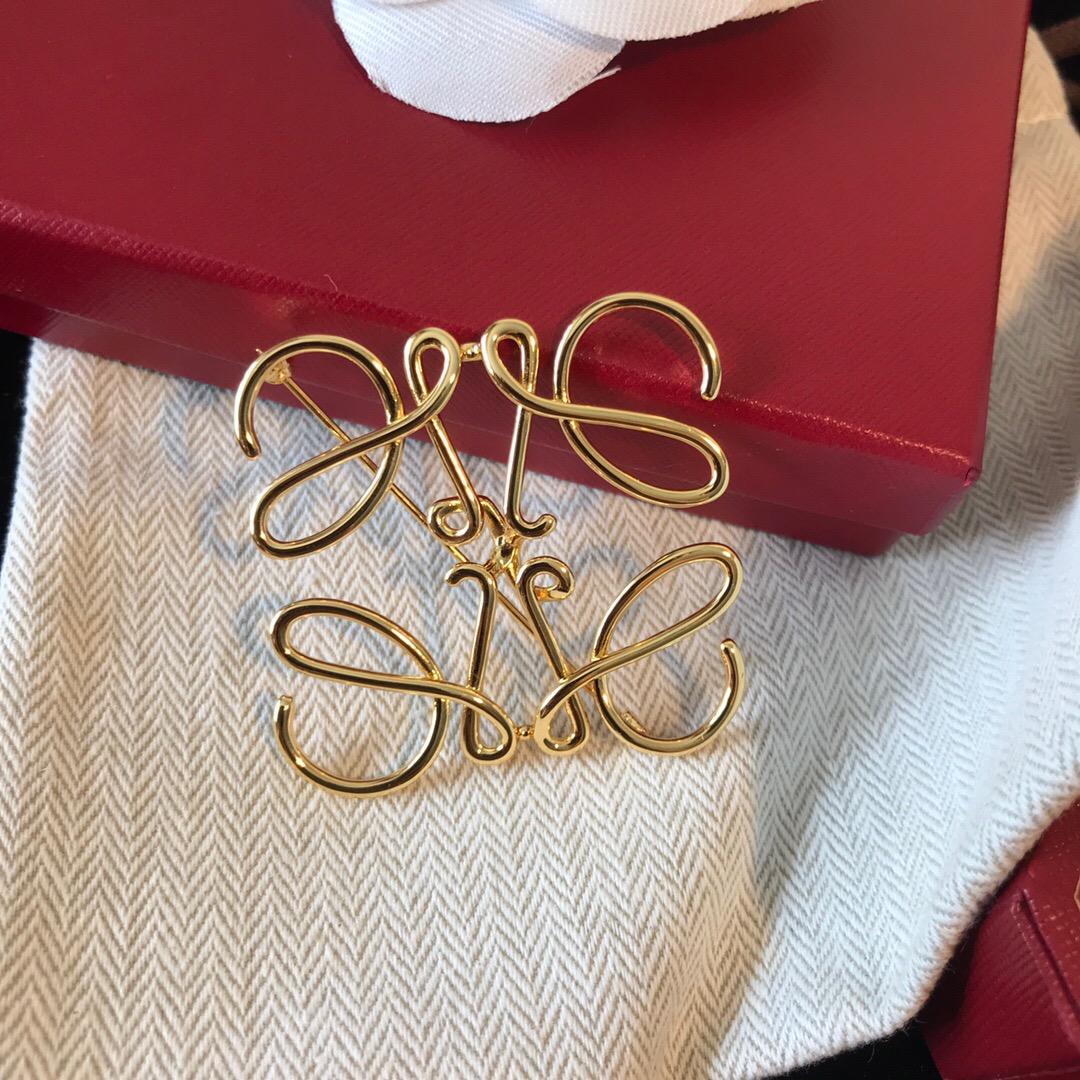 Loe 泫 elegant European and American simple geometric Brooch high grade femininity luxury personality Rowe suit coat pin
