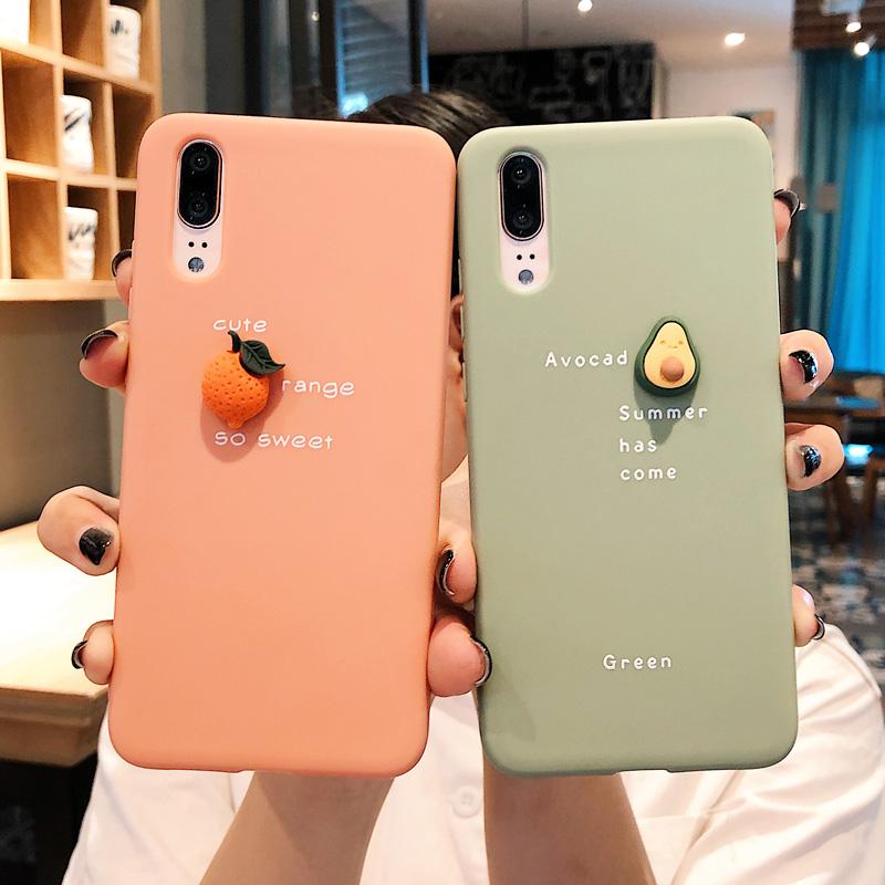 (用32.4元券)夏日橘子牛油果华为p30/pro手机壳nova3/4e/5i软壳女mate20荣