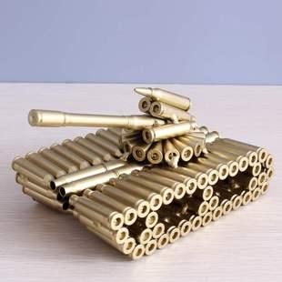 工艺品仿真坦克模型装 甲车金属摆件现代装 创意子弹壳拼装 饰品