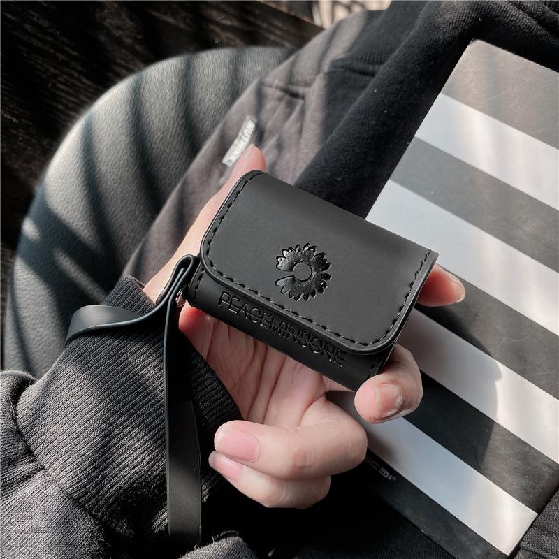 权志龙同款小雏菊AirPodsPro3保护套皮套苹果1/2代蓝牙耳机壳大气
