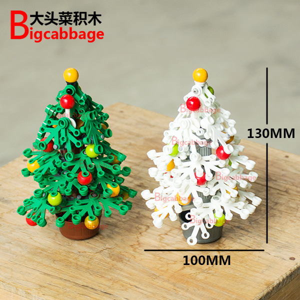 Big cabbage, small grain, building block, toy, Christmas tree, wreath, Santa Claus, gift, rope, decoration scene
