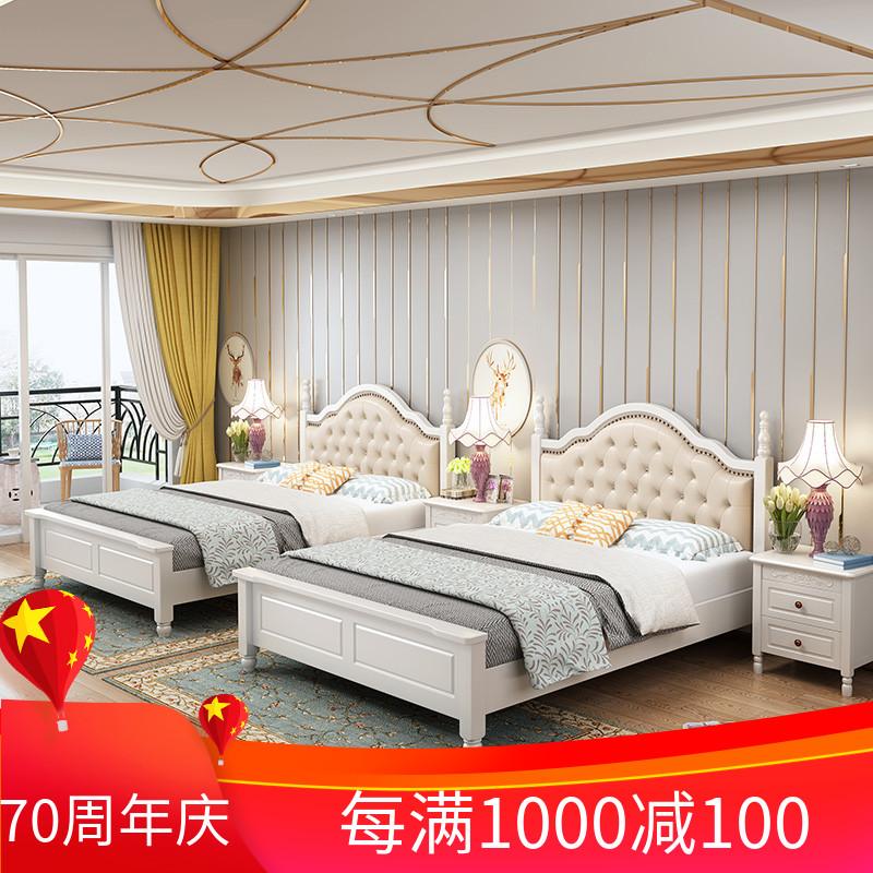 限1600张券1.35米软包1.2 m韩式田园美式床