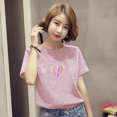906#官图短袖T恤女2018夏装韩版半袖体恤上衣宽松打底衫潮