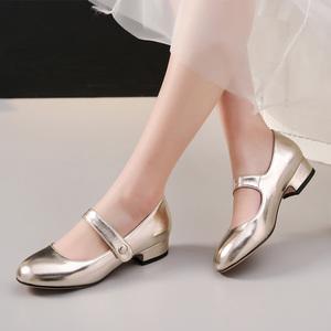 女童小皮鞋2020新款春季公主水晶高跟演出中大童舞台主持人儿童鞋