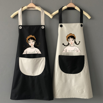 可爱日系防水防油家用厨房做饭围裙
