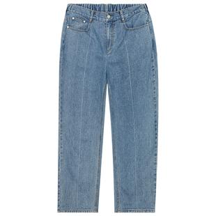 Lilbetter 爆款港風百搭闊腿牛仔褲ins國潮寬鬆直筒男生夏季長褲