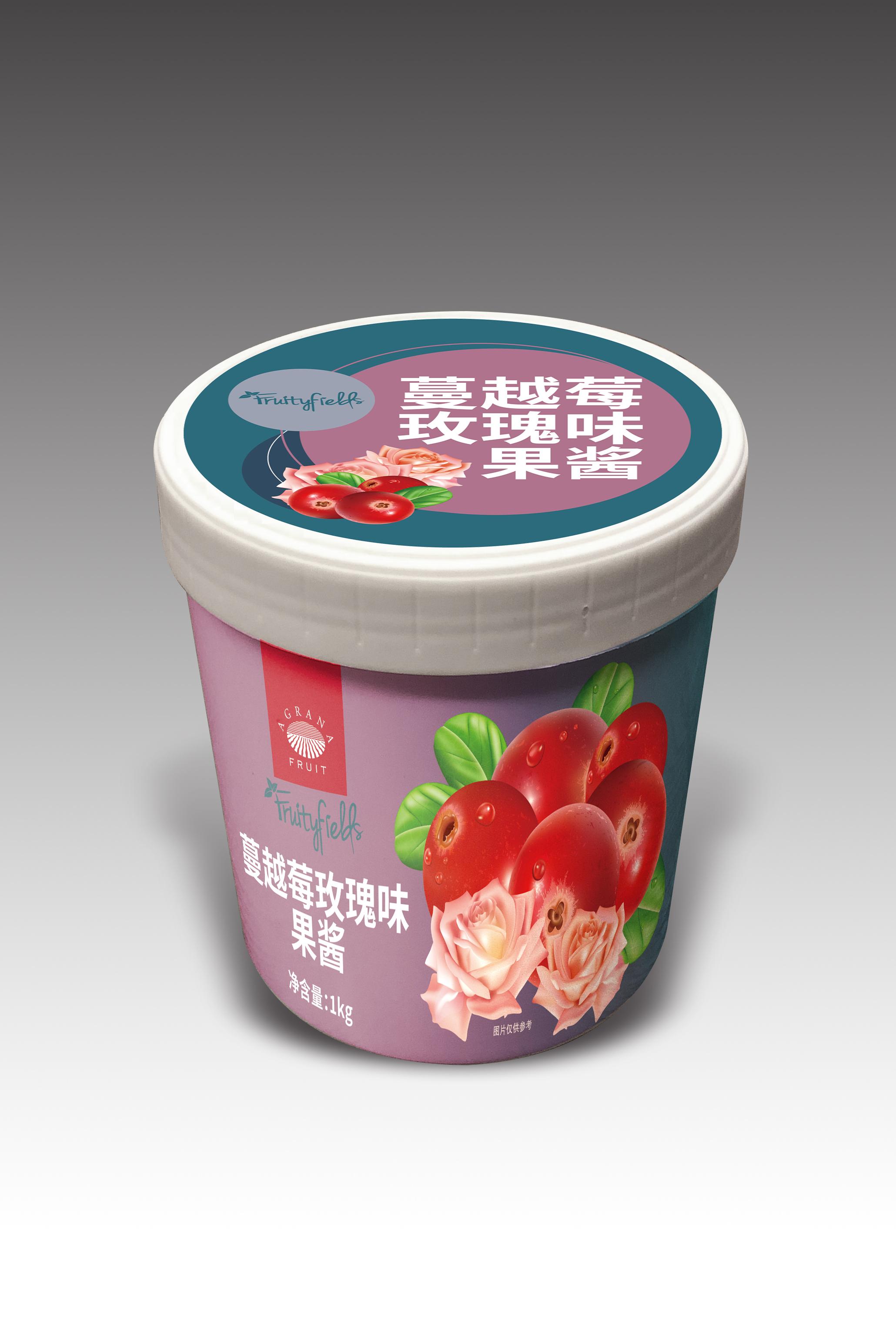 阿果安娜花果季 蔓越莓玫瑰果酱 果泥奶茶果汁饮品原料1kg 包邮