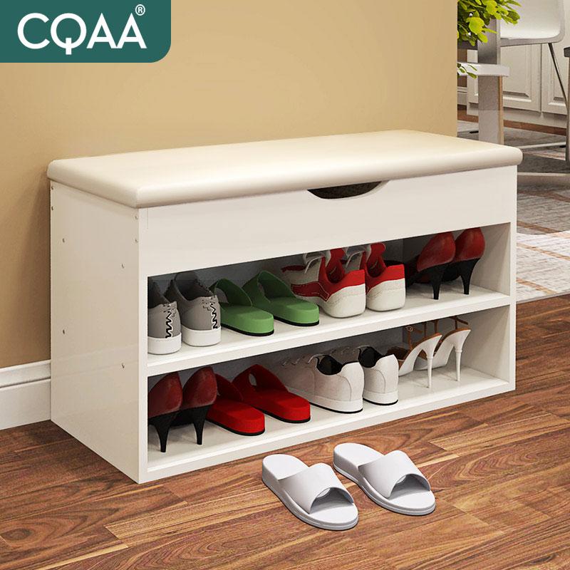 Легко нордический белый менять обувь стул хранение хранение табуретка простой современный континентальный обувной ворота рот продвижение ворота обувной стул