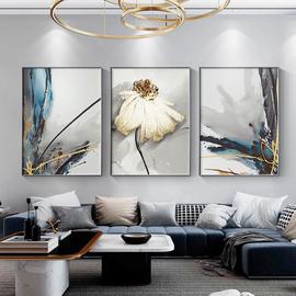 轻奢客厅抽象三联画大气北欧壁画挂画现代简约沙发背景墙画装饰画
