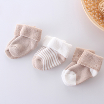 3宝宝毛圈袜胎袜纯棉12个月新生儿袜163婴儿袜子春秋冬加厚0