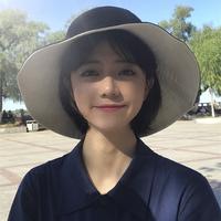 休闲百搭双面渔夫帽子女夏韩版日系文艺大檐防晒遮阳帽子盆帽户外