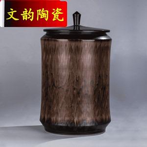 文韵景德镇特大号陶瓷茶叶罐