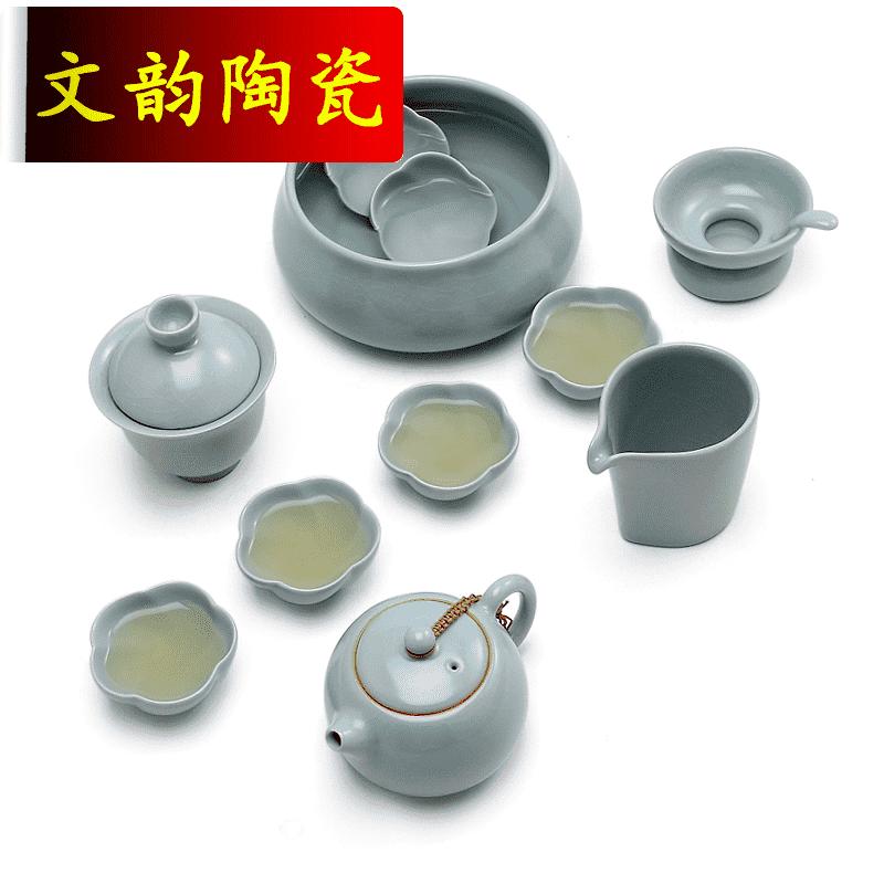品牌 正品可养汝瓷汝窑茶具礼品茶具礼盒包装茶洗限量特价FMT