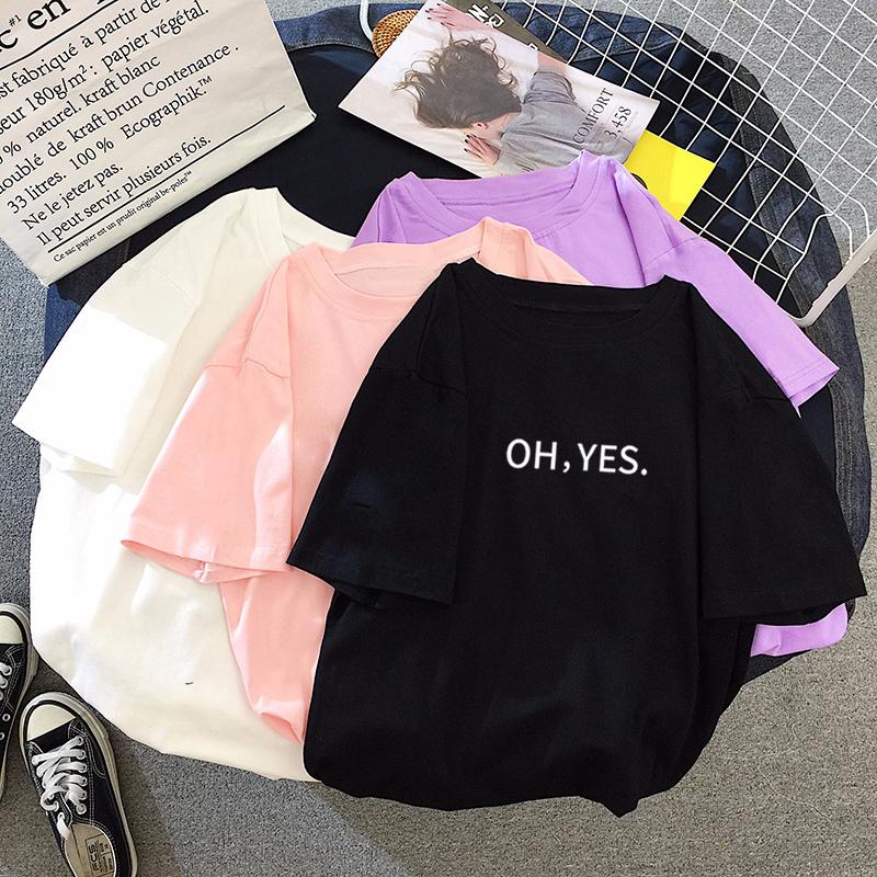 5722#實拍夏季新款韓版短袖字母學生寬松大碼圓領套頭女T恤