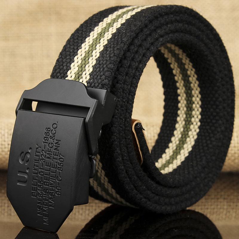 Canvas belt mens automatic belt buckle student youth business leisure belt mens and womens denim belt fashion