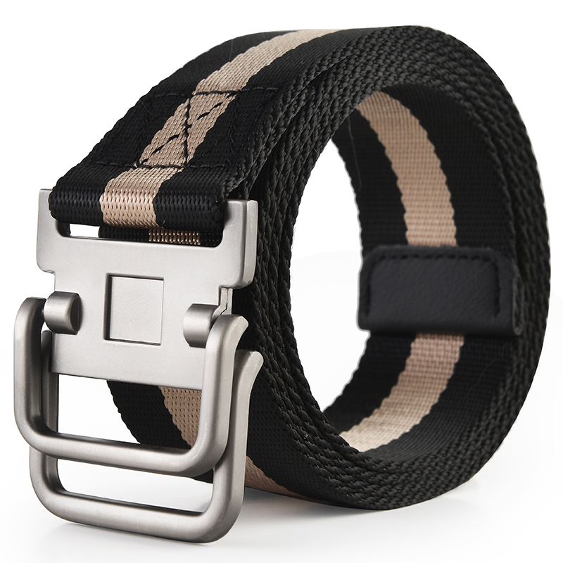 Canvas belt mens canvas belt male students Korean trousers belt youth leisure trousers belt mens and womens fashion