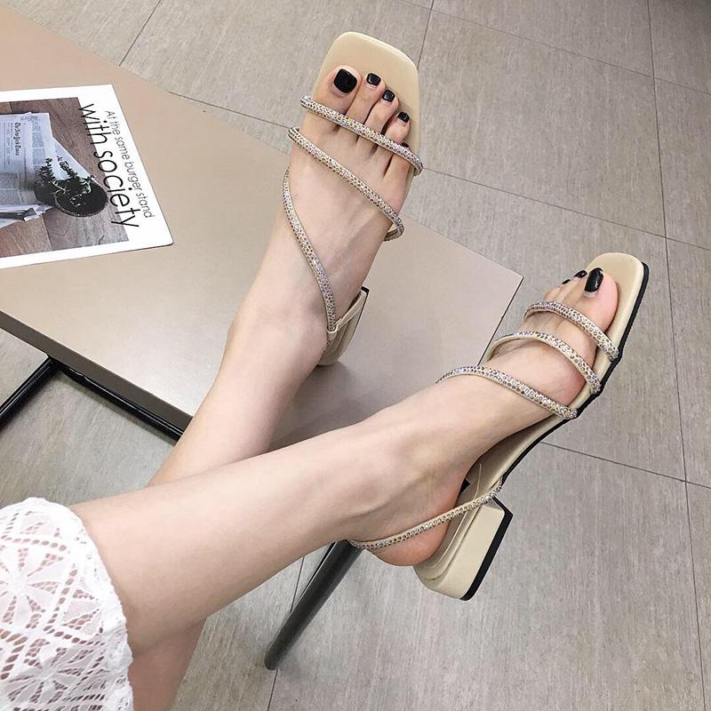 水钻蛇形缠绕女夏仙女风2019凉鞋券后95.00元