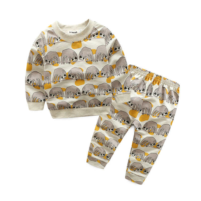 A generation of foreign trade children's clothing spring and autumn models boys and girls long-sleeved leisure suit cart