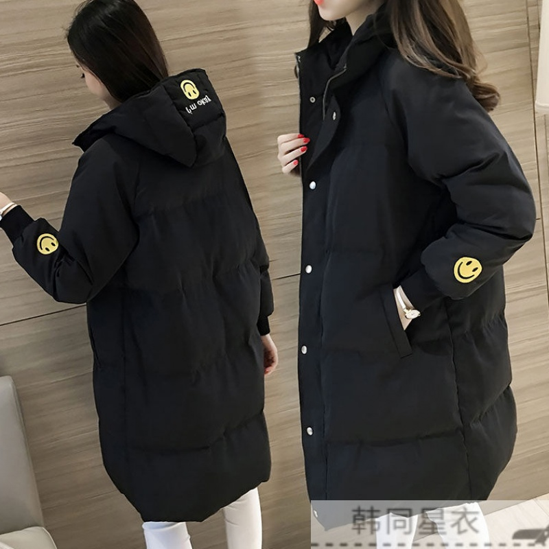 P1冬季棉袄棉衣女中长款面包服韩版学生宽松加厚冬天棉服外套女