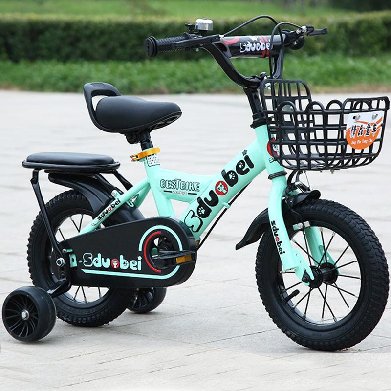 网红儿童自行车闪光辅助轮通用 宝宝安全靠背后座单车脚踏车童车