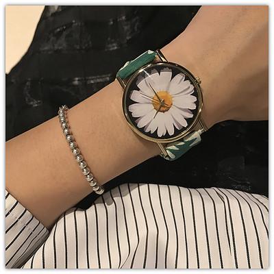 限时特价 日内瓦款式森女非纯棉布带手表小雏菊绑带腕表女表包邮