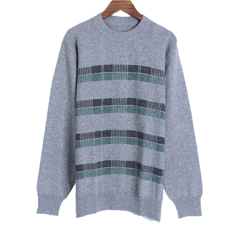 Erniman Erdos cashmere sweater mens round neck thickened leisure youth sweater Pullover Sweater