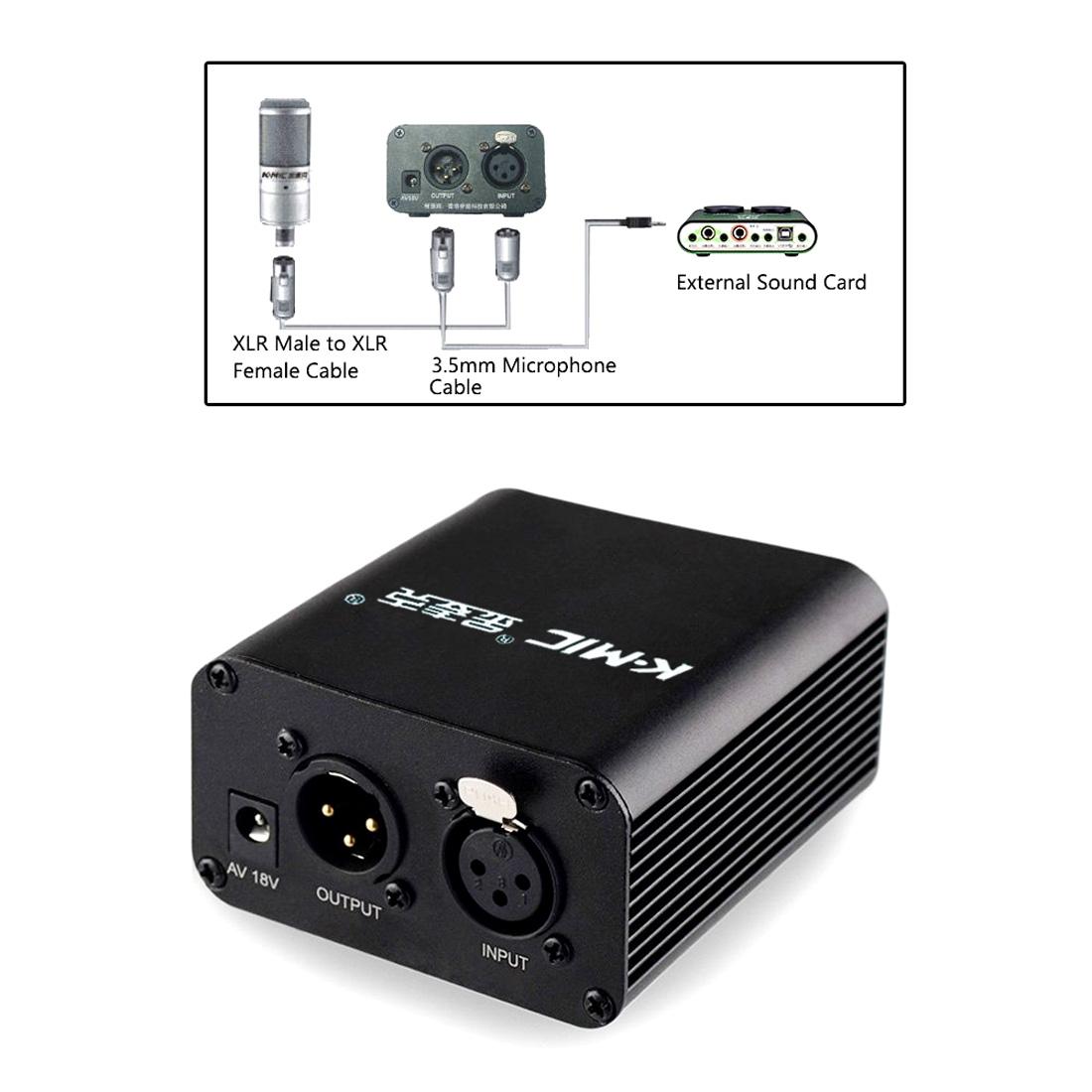 K-Mic/ золото майк PM800 емкость микрофон микрофон 48V нет шум звук фантазия нереальный так адаптер питания