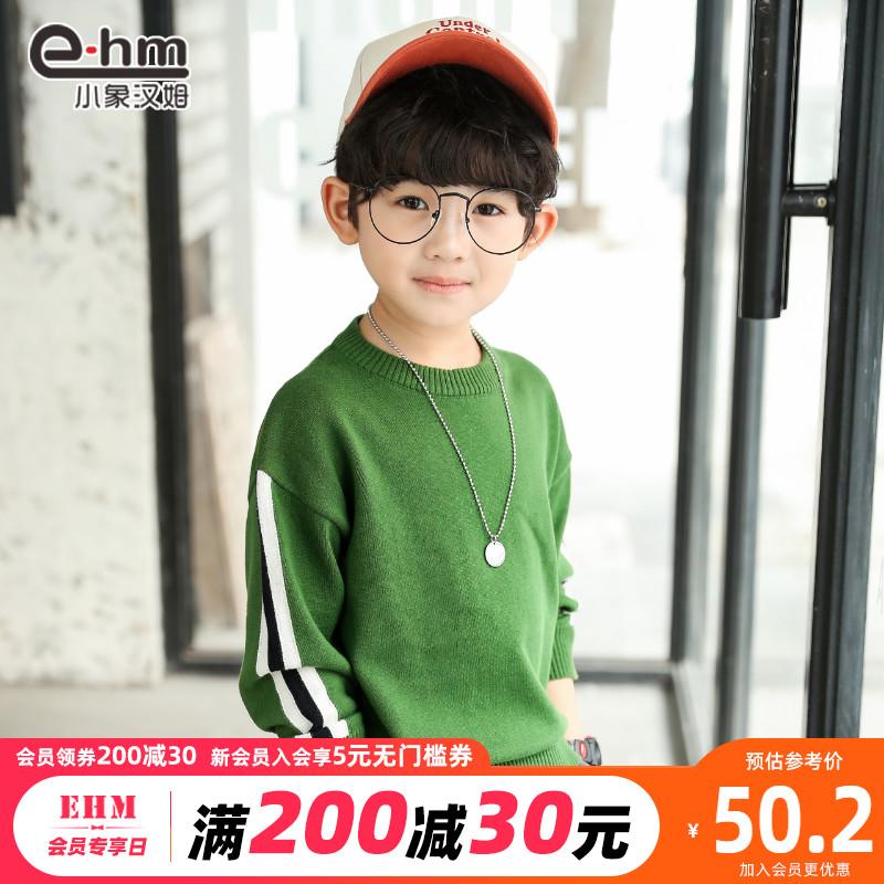小象汉姆童装男童春秋毛衣儿童套头针织衫2020新款中大童韩版洋气图片