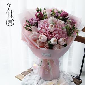 成都鲜花同城速递花店送花配送玫瑰花康乃馨订花百合花束礼盒生日