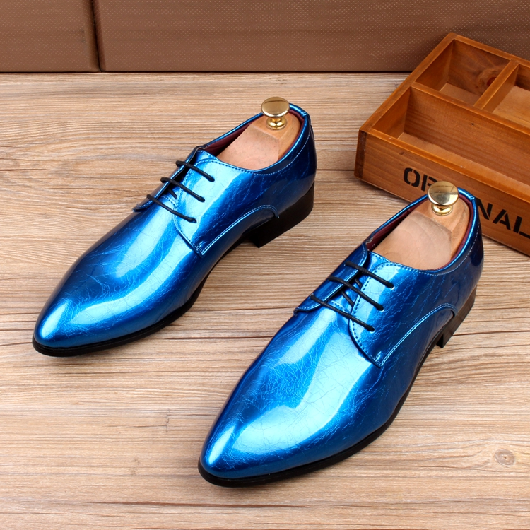 Pointed leather shoes, mens Korean trend, business and leisure, mens breathable shoes, elevated work shoes, shiny leather shoes